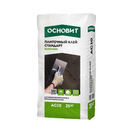 Плиточный клей Основит Стандарт Базпликс АС10, 25 кг