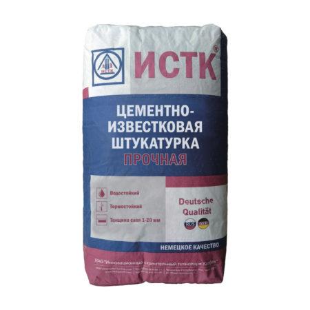 Цементно-известковая штукатурка прочная ИСТК