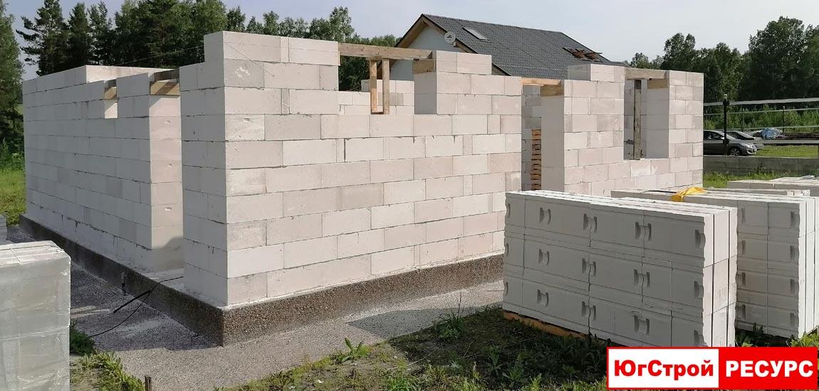 Строительство дома из газобетонных блоков ИСТК