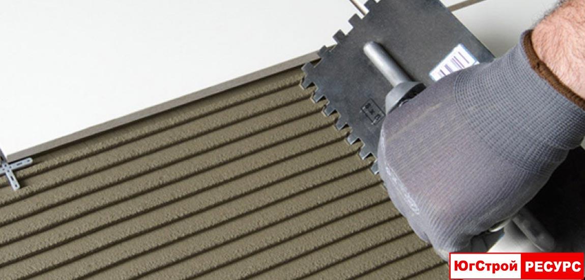 Усиленный клей для плитки и керамогранита